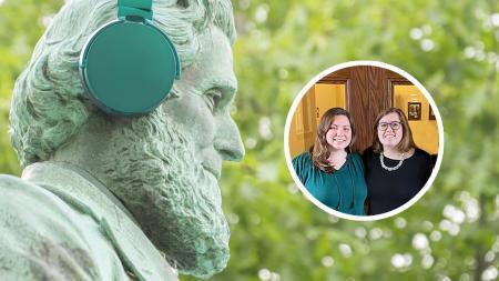 SUNY Oswego seniors, Cassie and Cloey host The Road to Oz podcast.
