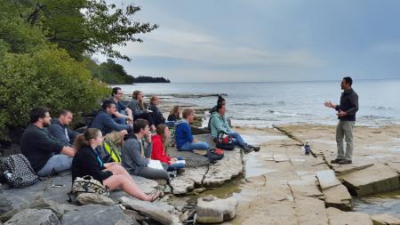 Class on Lake Ontario