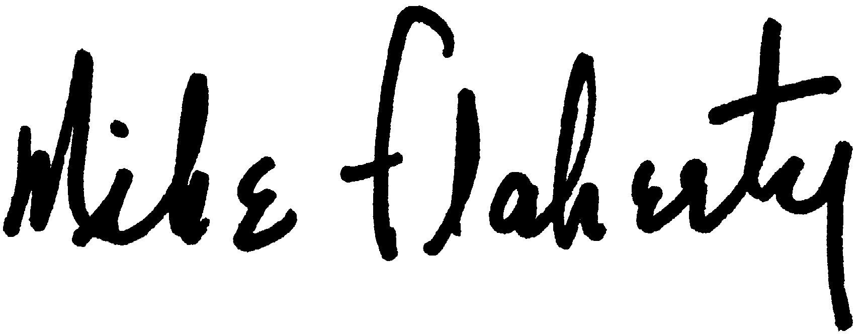 Mike Flaherty signature