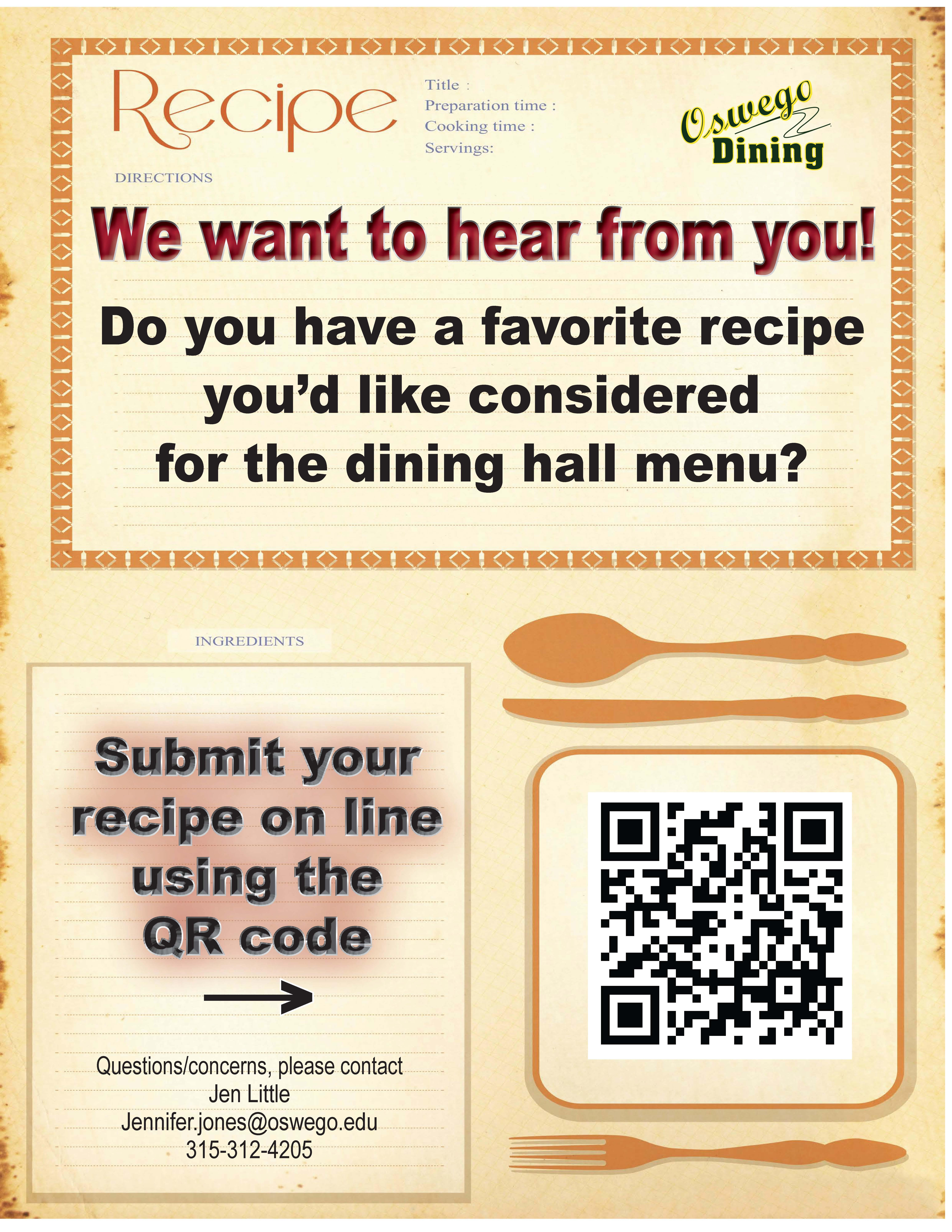 Recipe Submission Form