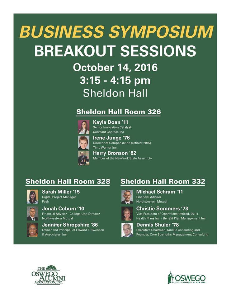 Breakout Session October 14, 2016