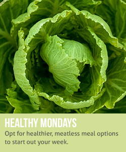 Healthy Mondays: opt for healthier, meatless meal options to start out your week