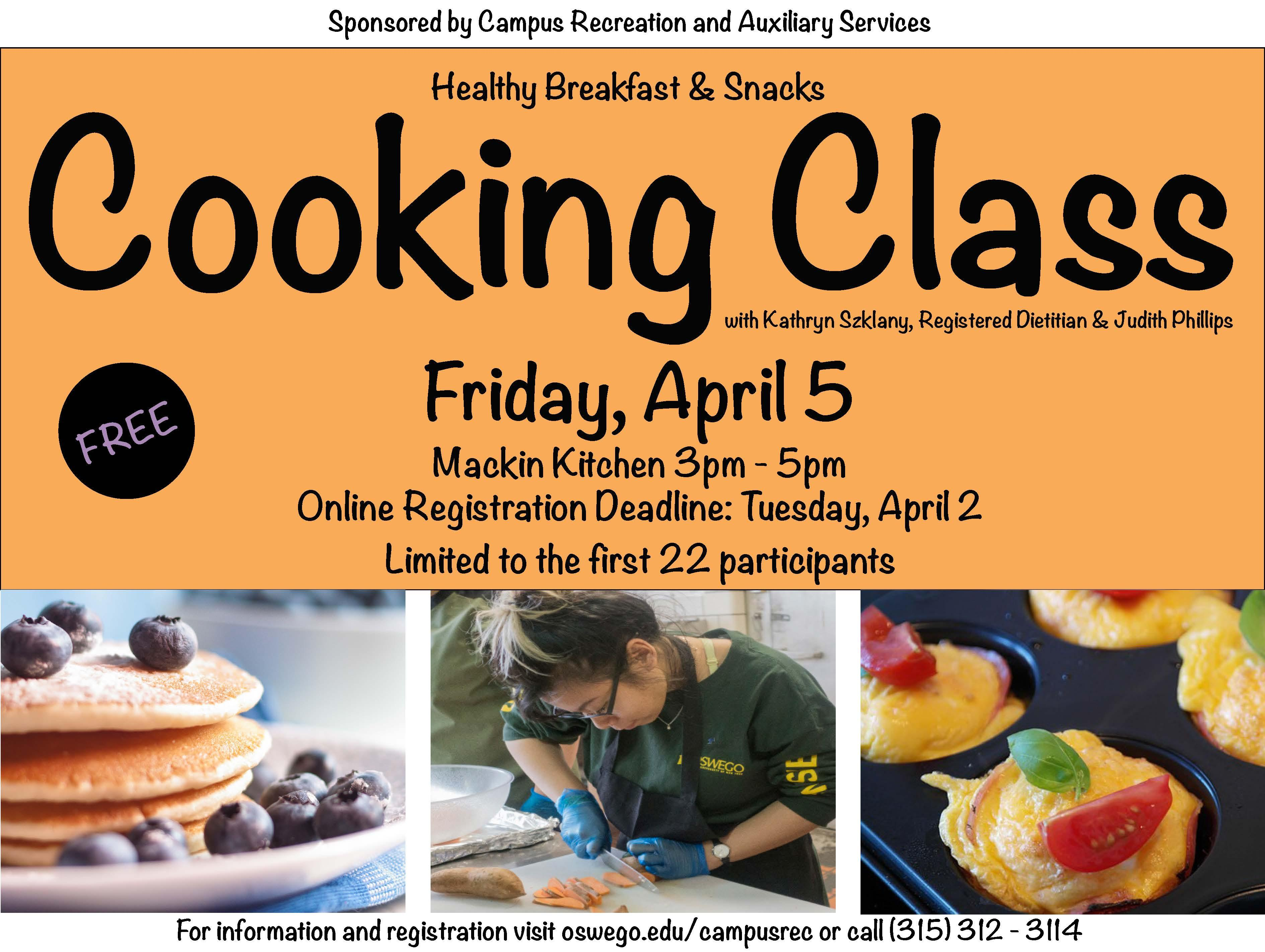 2019 Spring Cooking Class