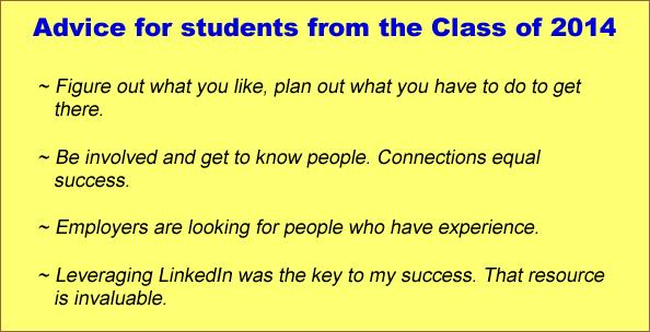 Advice from the students of the class of 2014