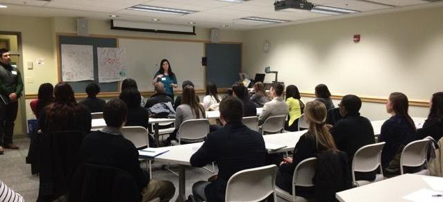 A Career Services Industry Expert Conducts a Class Presentation