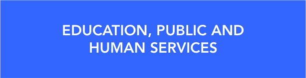 education, public and human services