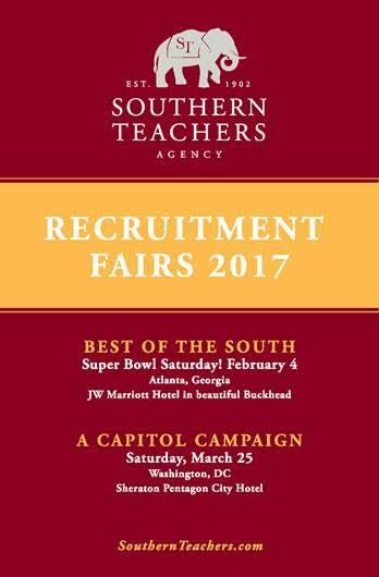 Southern Teachers Agency Recruitment Fairs 2017