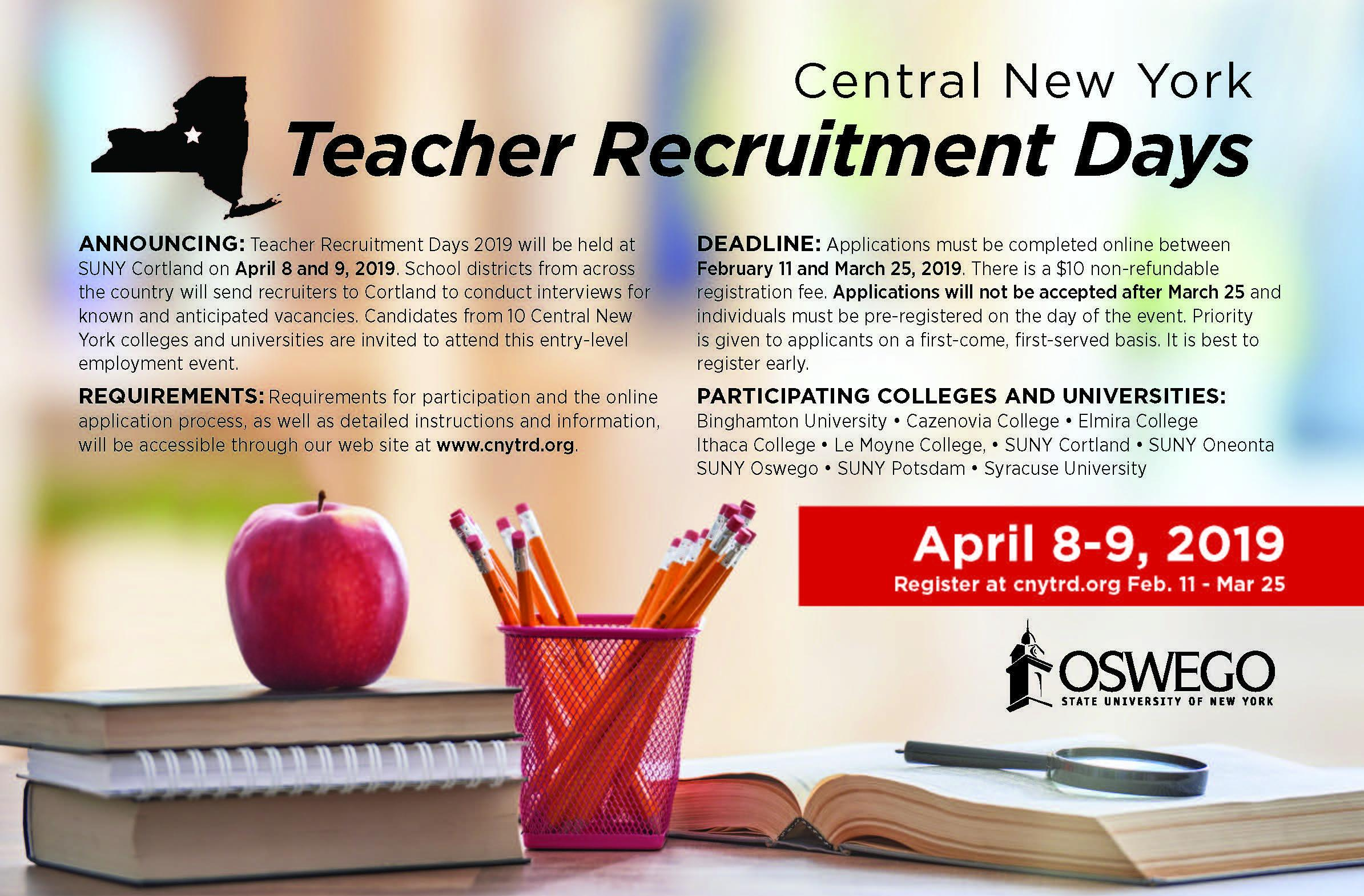 Teacher Recruitment Days Information
