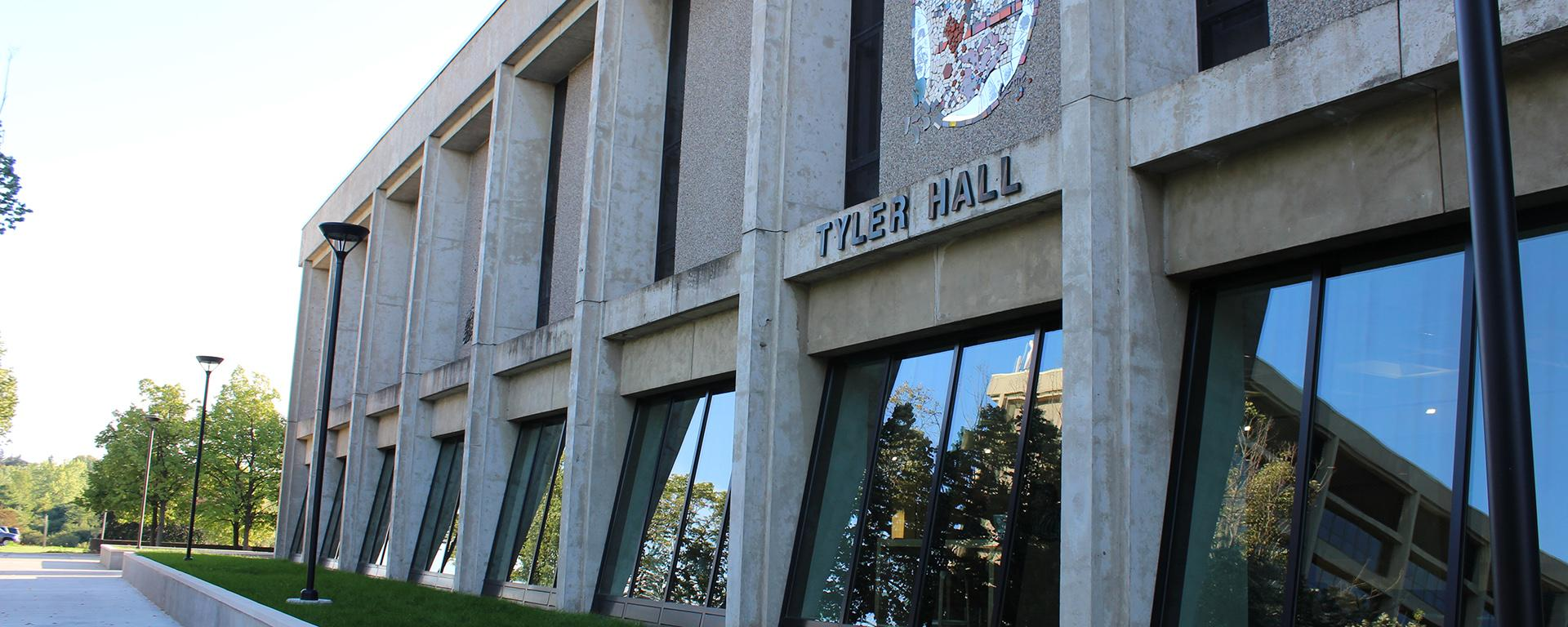 The facade of Tyler Hall after renovation