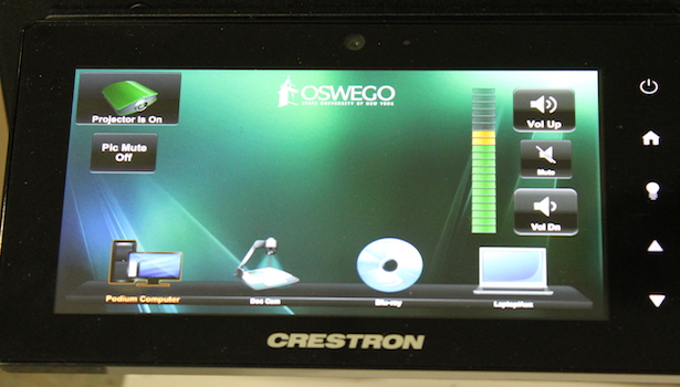 Photo of the touch panel in the room.