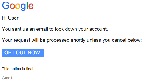 Phishing email from January 4, 2016