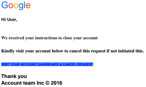 Phishing email from February 3, 2016