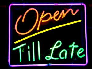 open late neon