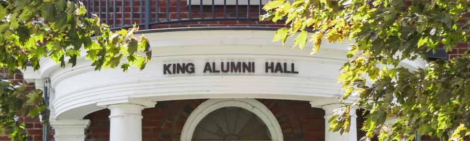 King Hall Exterior Sign