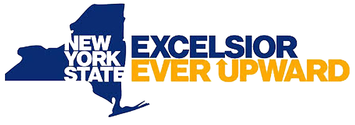 """New York State - Excelsior Ever Upward"" logo"