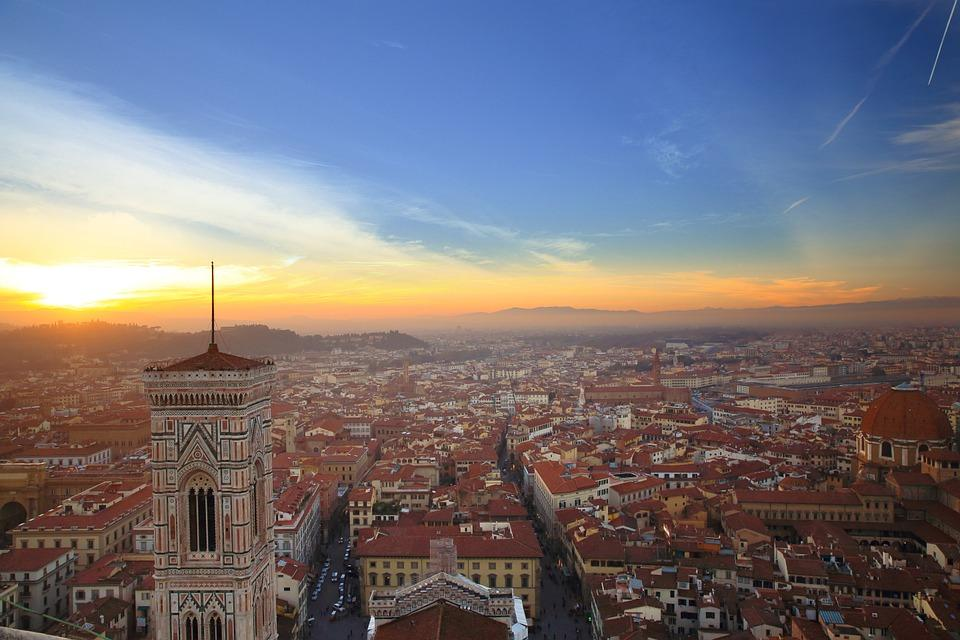 Aerial view of Florence city