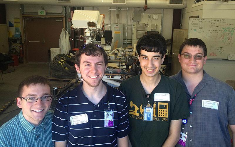 Students at NASA laboratory