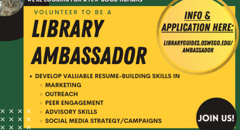 Apply to be a Library Ambassador!