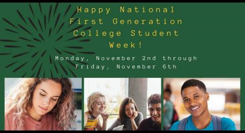 National First Generation College Student Week