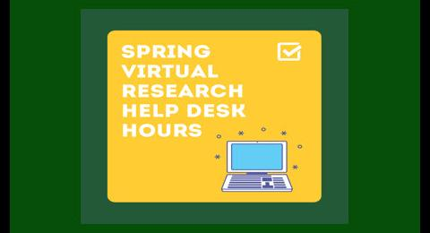Spring Research Help Desk Hours