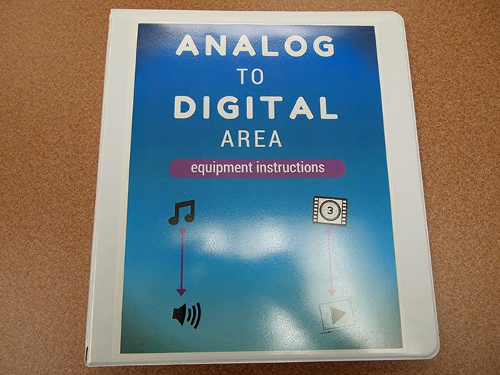 Help binder in the Analog to Digital Area.