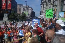 Library advocates rally