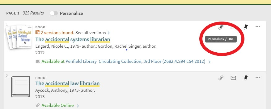 library main search interface full display