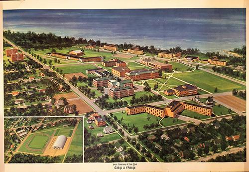 Campus map circa 1970s