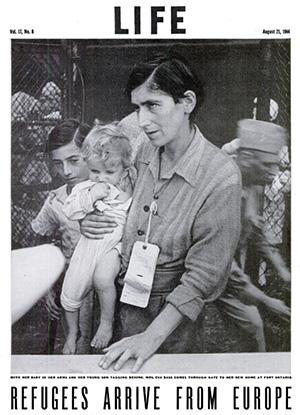 Life Magazine article, August 21, 1944: Refugees Arrive From Europe