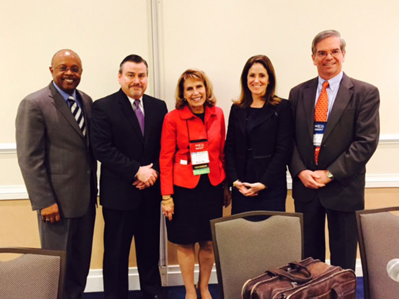 President Deborah F. Stanley on panel with other education leaders