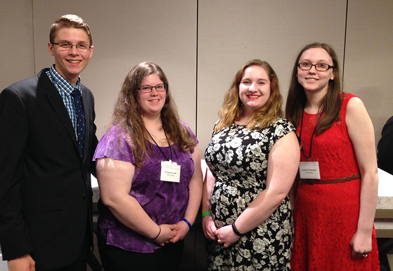 Students at honors conference