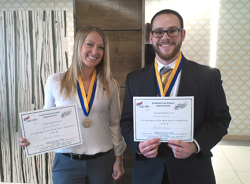 Jordan Parkinson and Mark Prezioso, business competition award winners