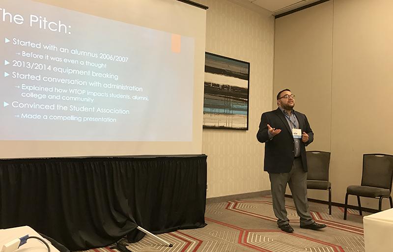 Justin Dobrow presenting