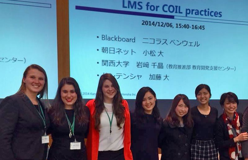 Amy McHugh and students in Japan