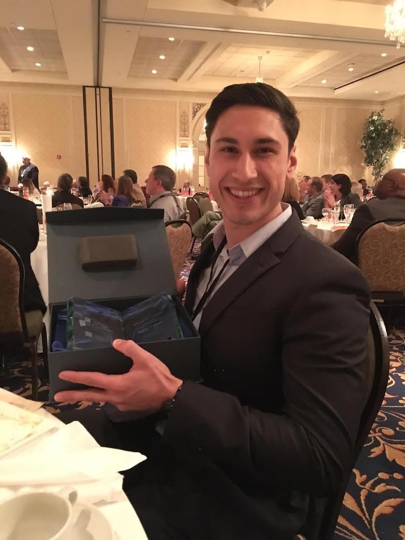 Iain Thompson with UEDA award