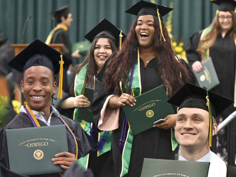 Students celebrate graduating at Commencement