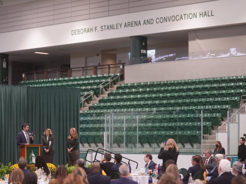 Deborah F. Stanley arena dedication