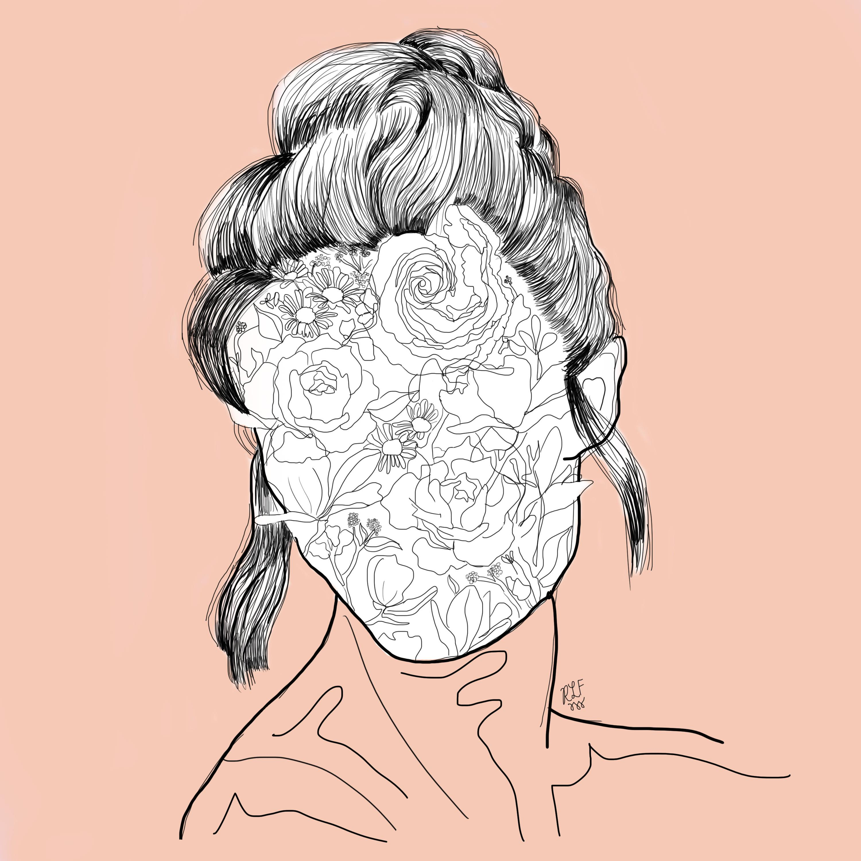 """Jurors for the 2019 Best of SUNY Student Art Exhibition selected """"Flourish,"""" an illustration by recent SUNY Oswego graduate Rachel Futterman, for an Honorable Mention -- one of only seven pieces chosen across the 64-campus State University system."""