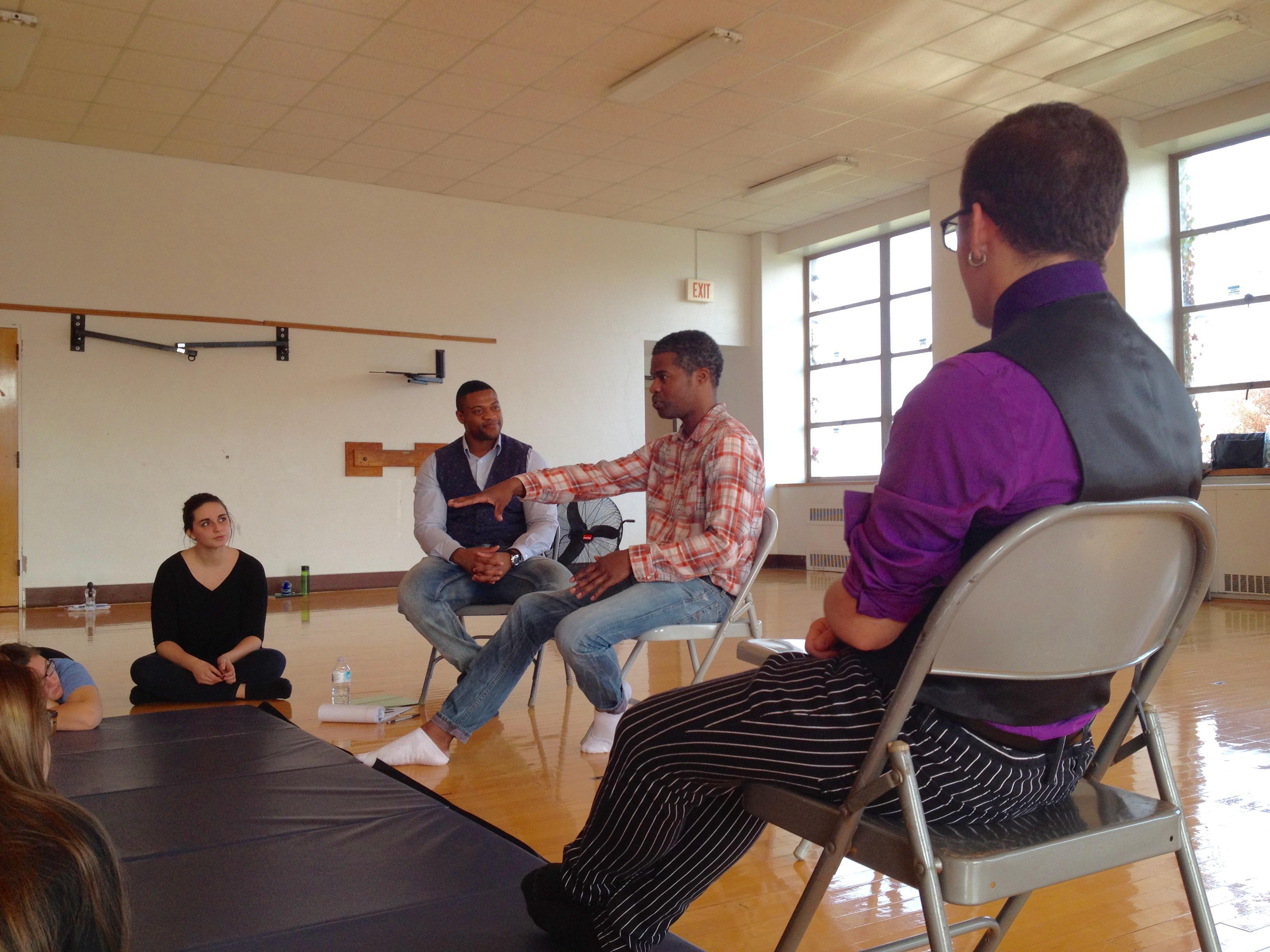 Jimonn Cole in theatre class