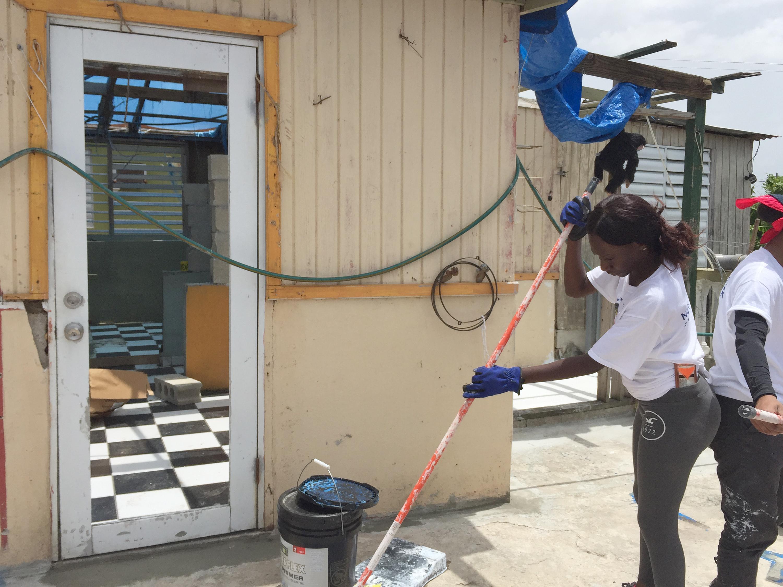 Alesha Barrett working in Puerto Rico