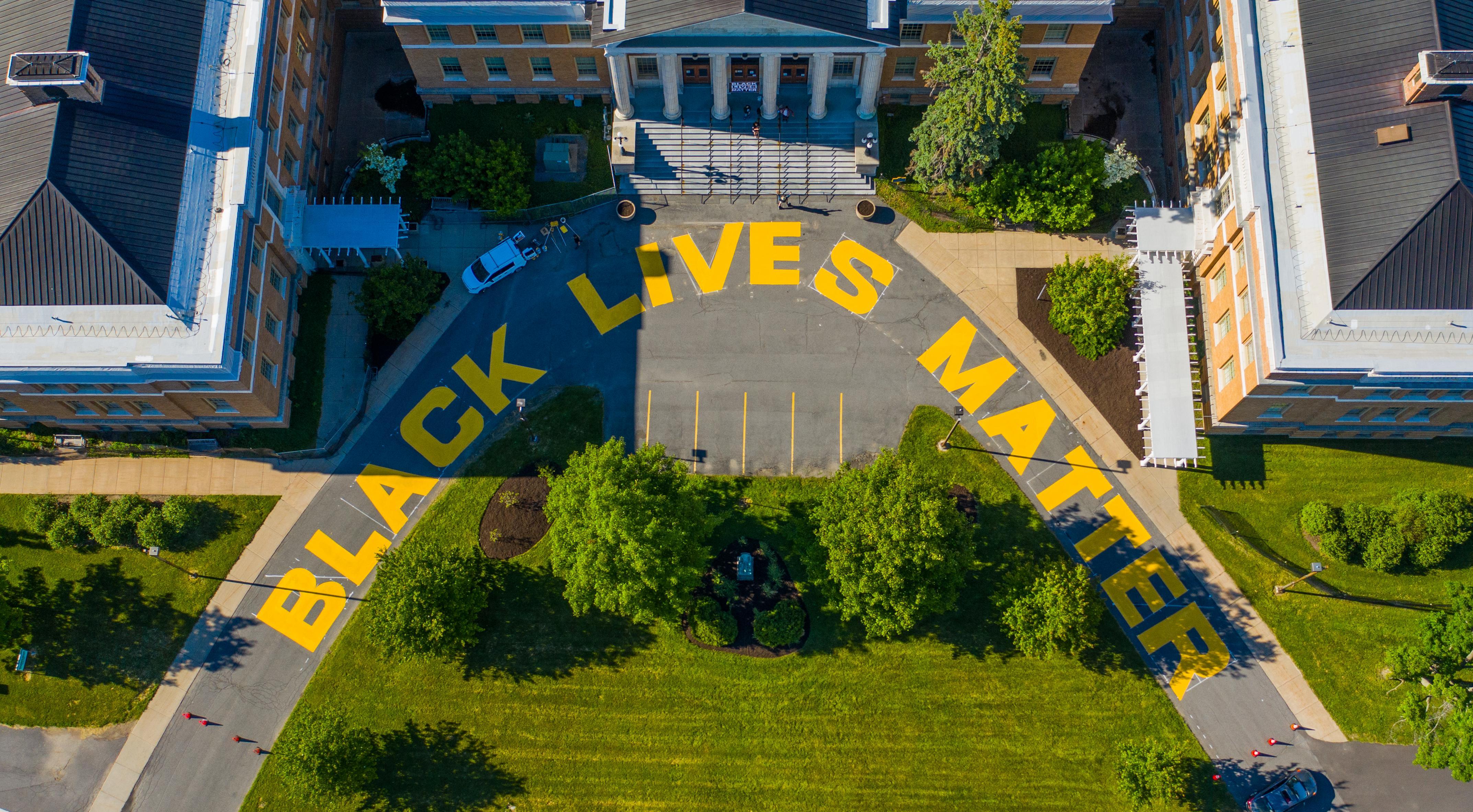 Black Lives Matter mural at Sheldon Hall