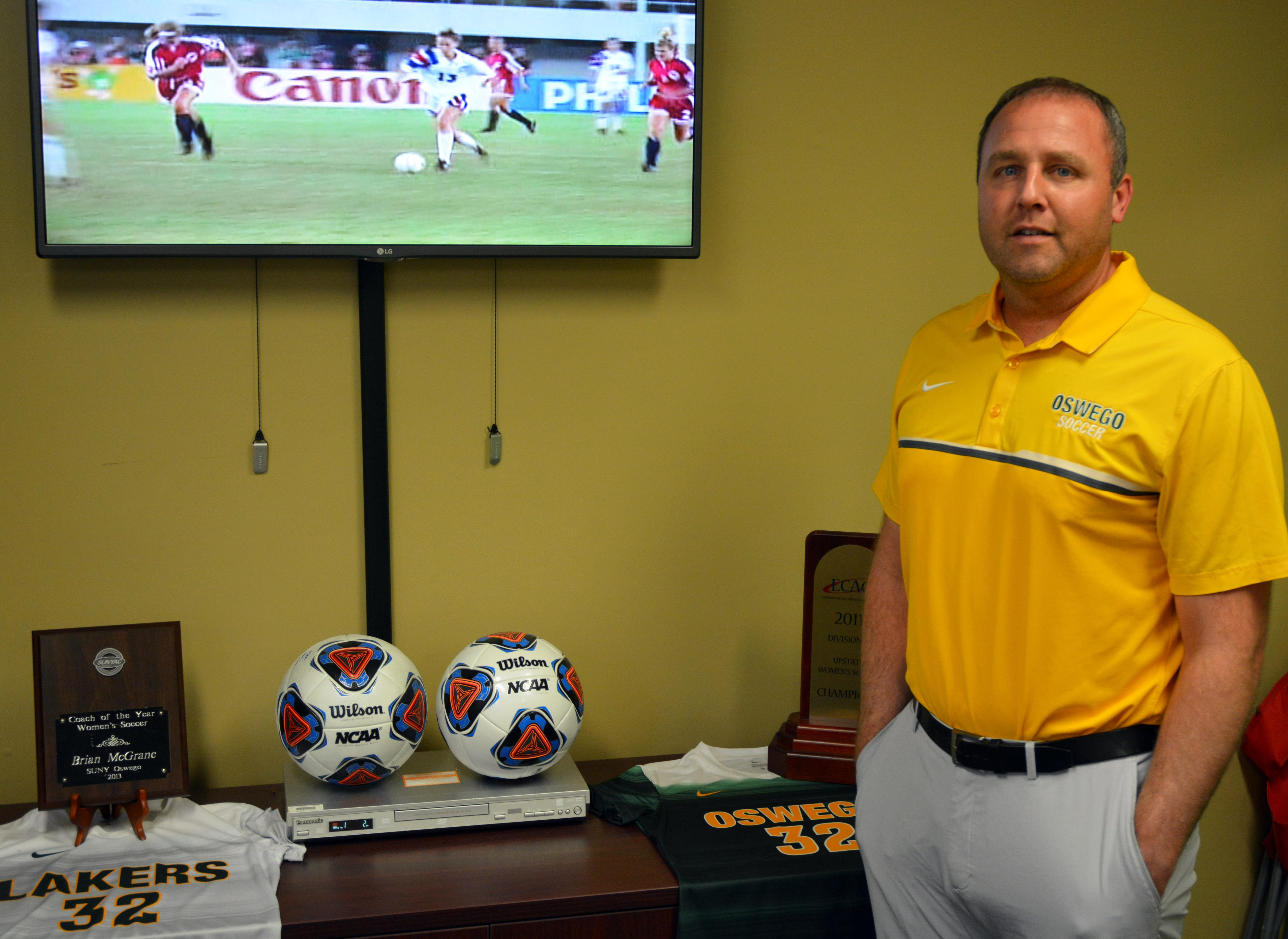 Brian McGrane prepares for another women's soccer season