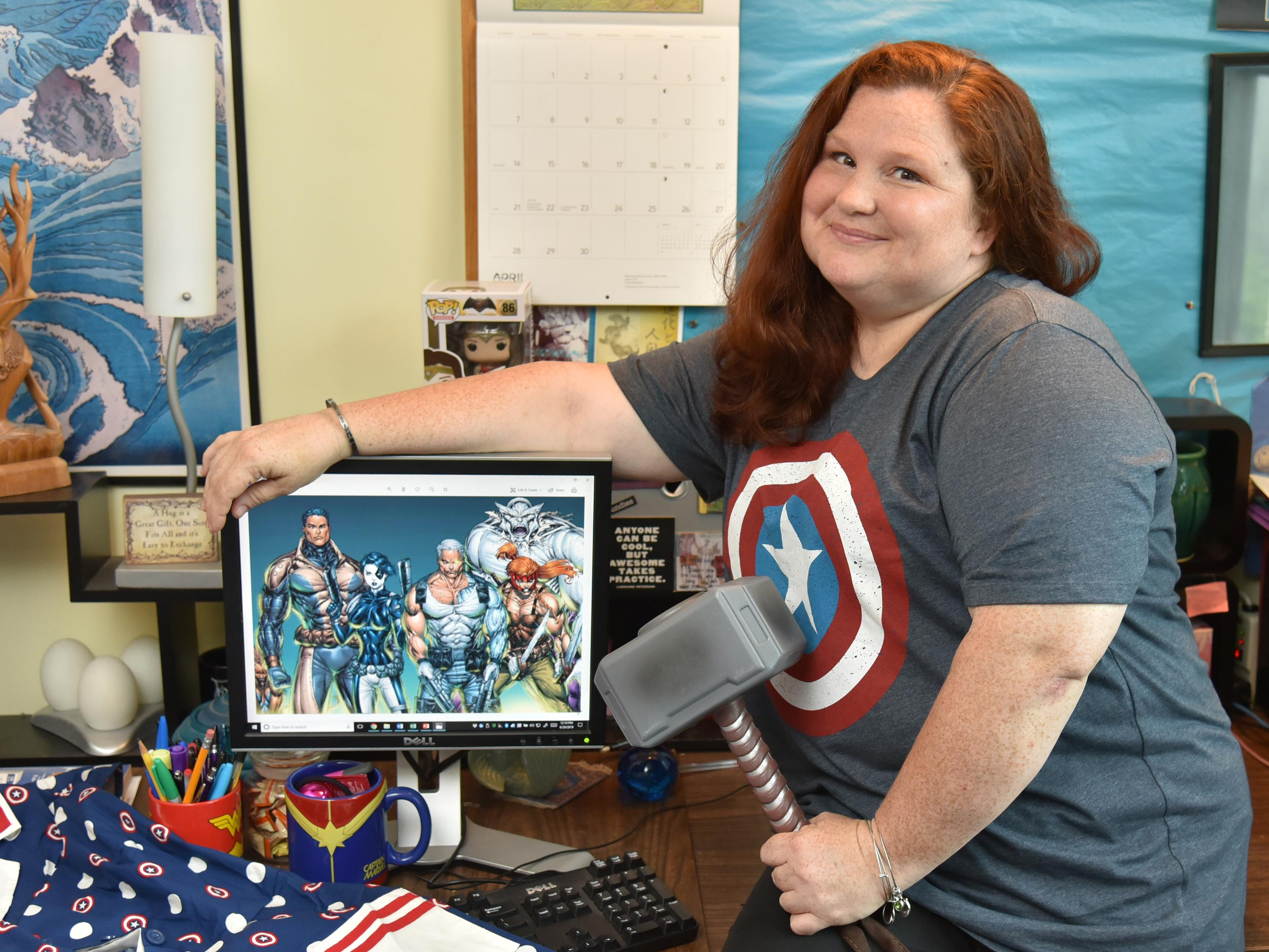 Becky Burch conducted research on physical dimensions of superheroes
