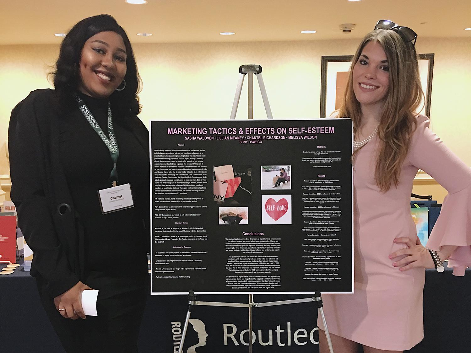 Oswego students presenting at conference