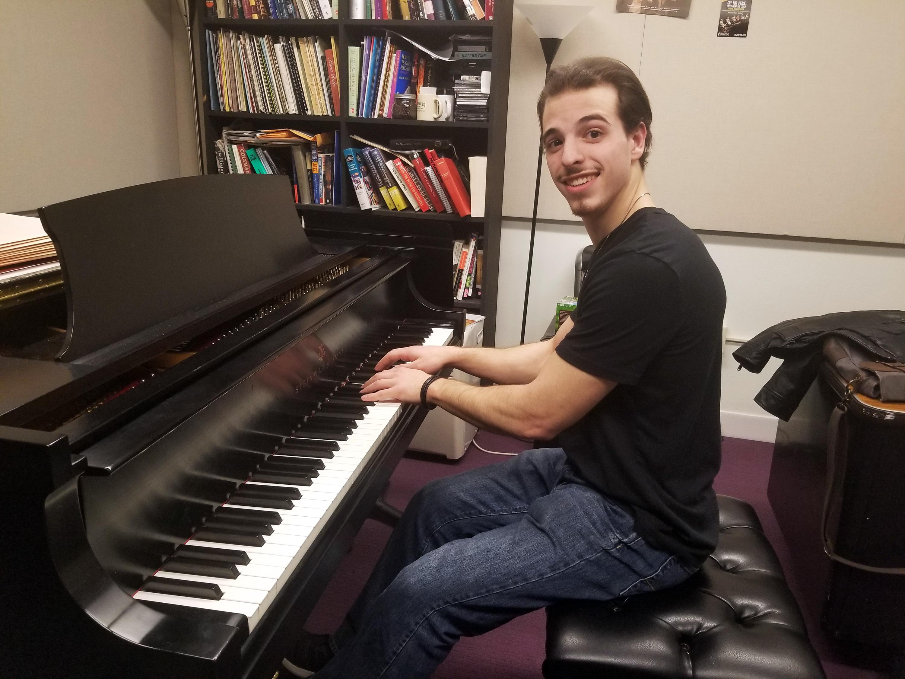 Christopher Spinelli, a very talented student pianist