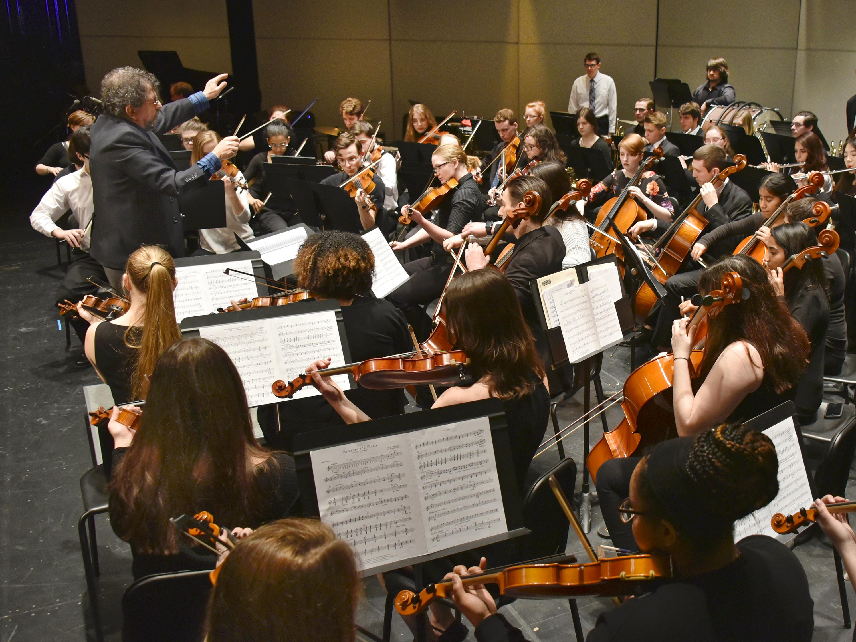 Orchestra performs at previous Collage concert