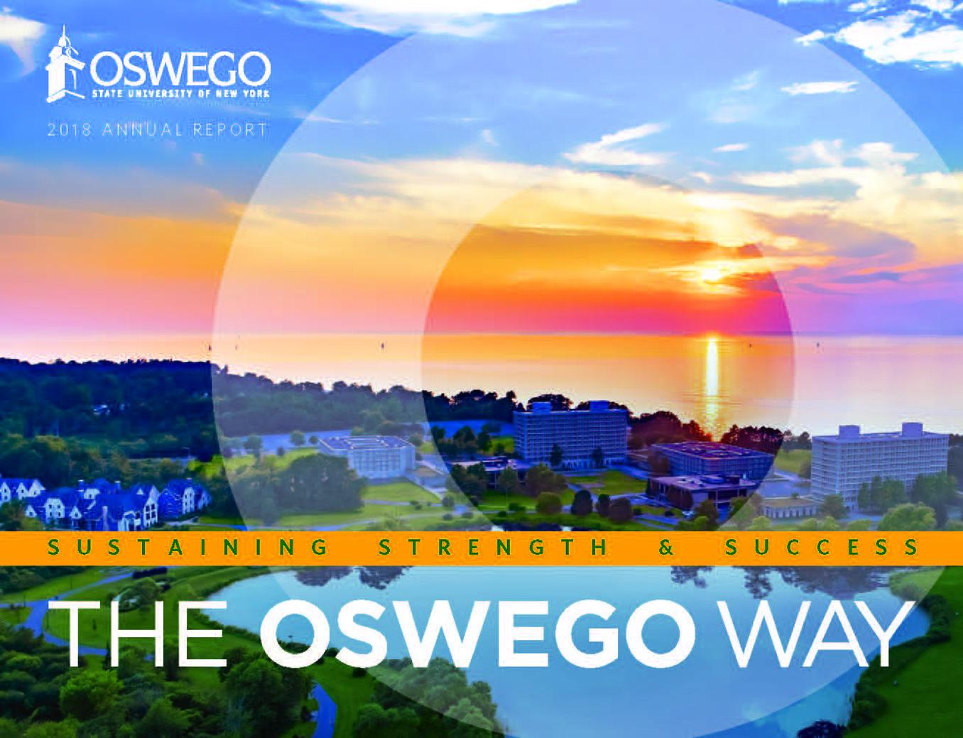 Cover of SUNY Oswego Annual Report: 2017-2018