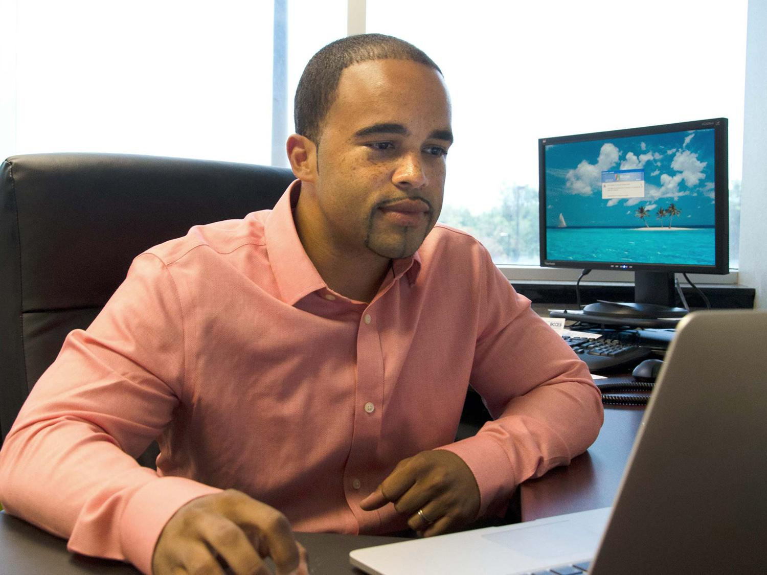 Erison Rodriguez is a regional manager thanks in large part to the Oswego MBA