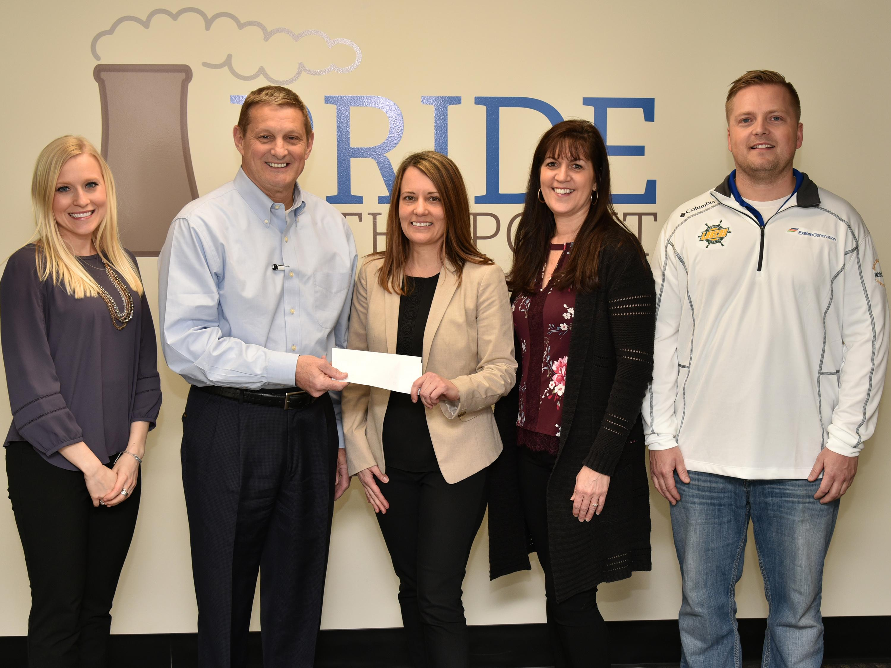 Exelon presents check to support Leadership Oswego County