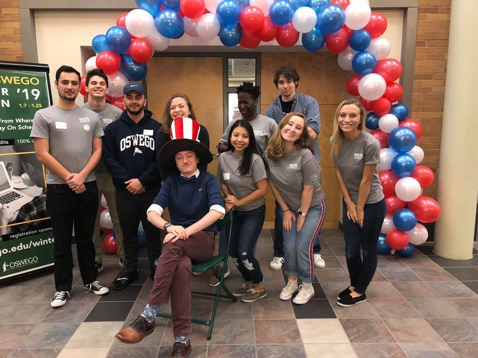 Lauren Fitzgerald with Vote Oswego team members